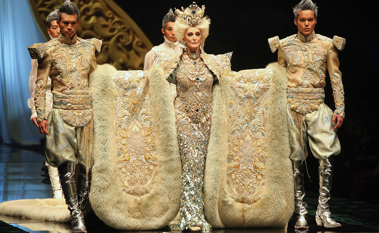 Couture gown creations by Guo Pei