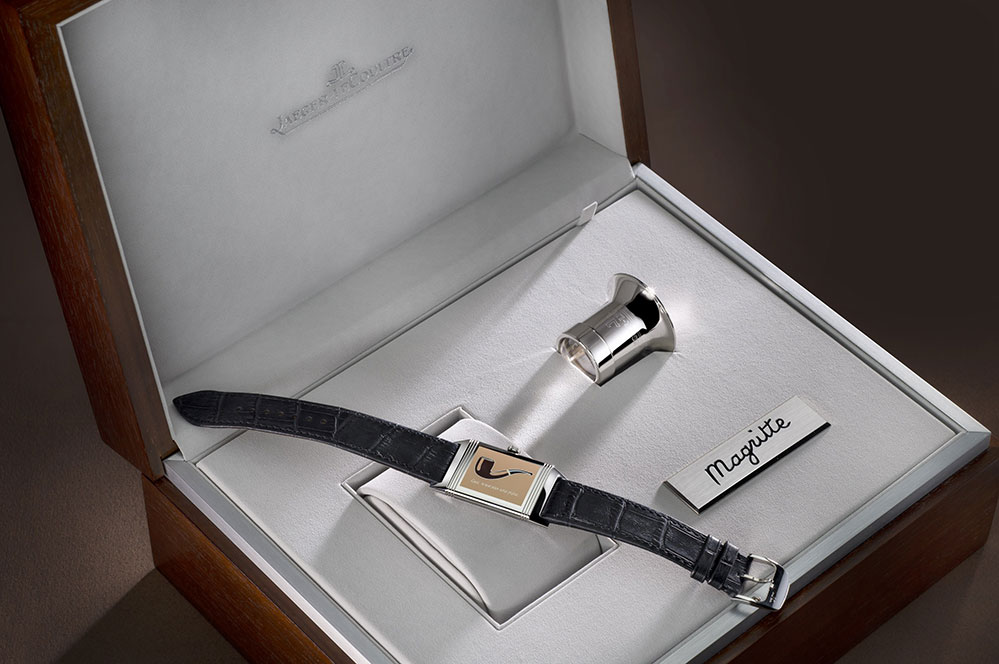 As well as paying homage to René Magritte, Jaeger-LeCoultre is celebrating the 85th anniversary of the Reverso watch