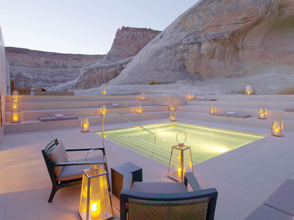 A pool with desert views in Utah, United States