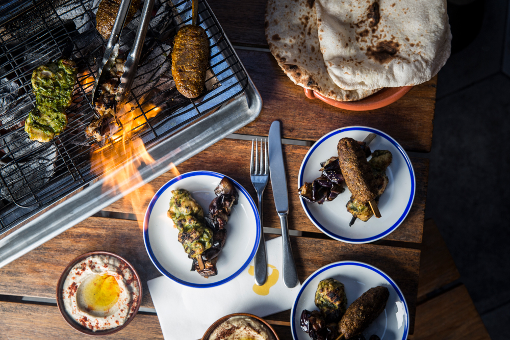 Fresh skewers and mezze at Maison Libanaise