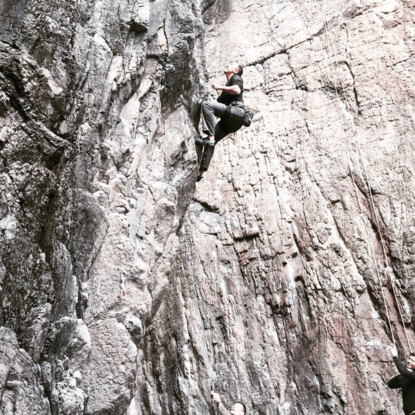 Staying grounded while rock climbing in Hong Kong