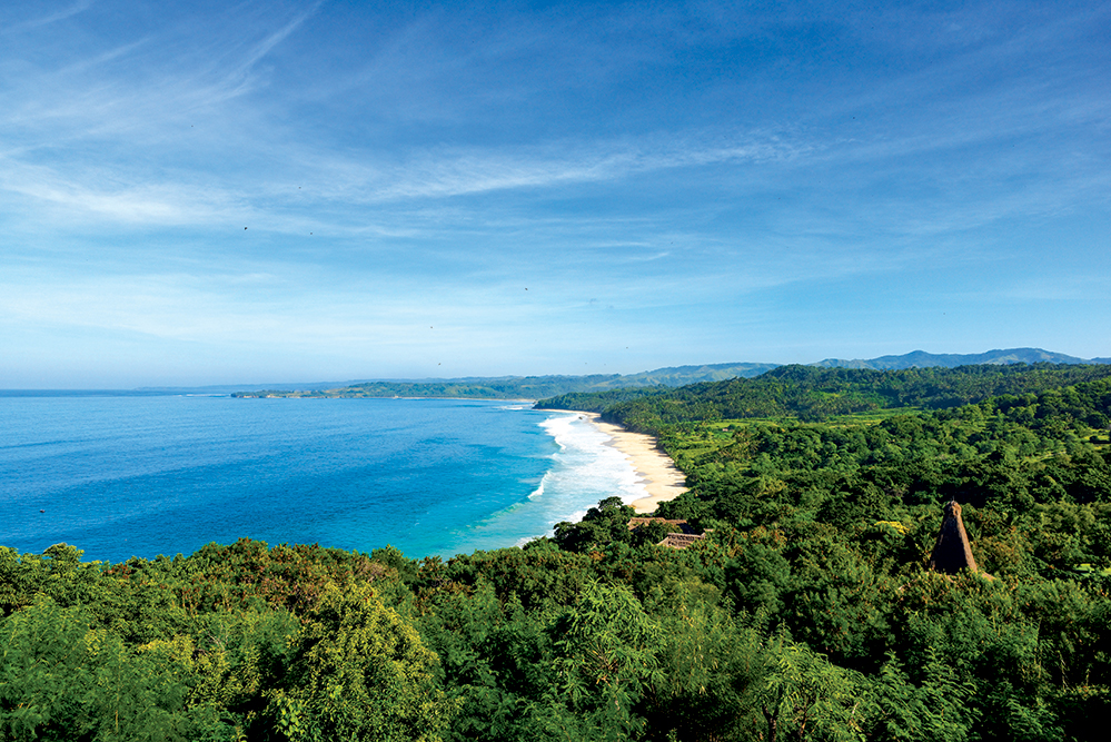 Take in the unspoiled vista of pristine coastline and lush green jungle that make up this 560-hectare resort on Sumba Island