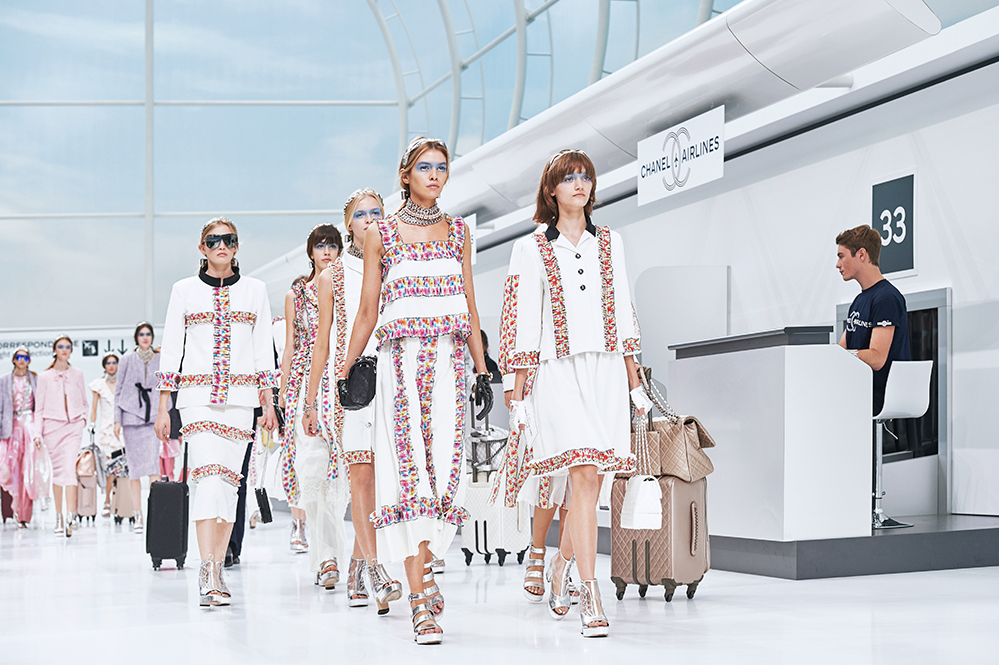 Chanel spring/summer 2015 show at Paris Fashion Week in November 2015