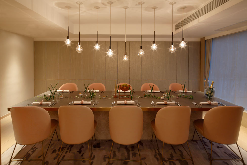 An intimate private dining room at Tate Dining Room & Bar