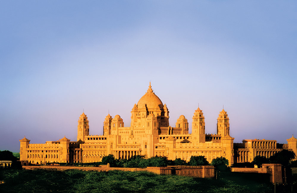 View of the Umaid Bhawan Palace