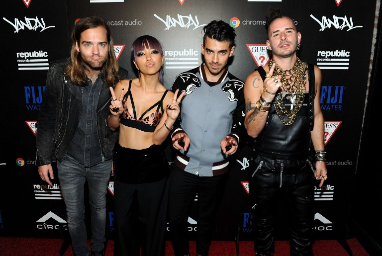 DNCE won the Artist to Watch Award at the VMA 2016 (Photo by Craig Barritt / Getty Images)