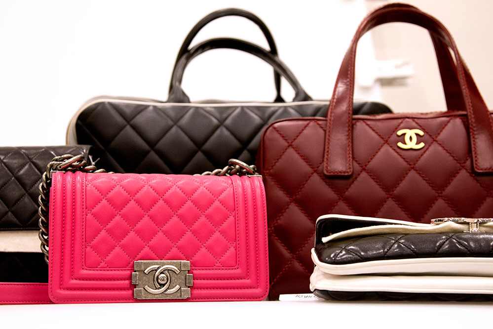 Vintage Chanel bags at the Guiltless vault