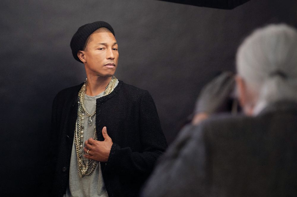 Lagerfeld shoots Chanel ambassador Pharrell Williams