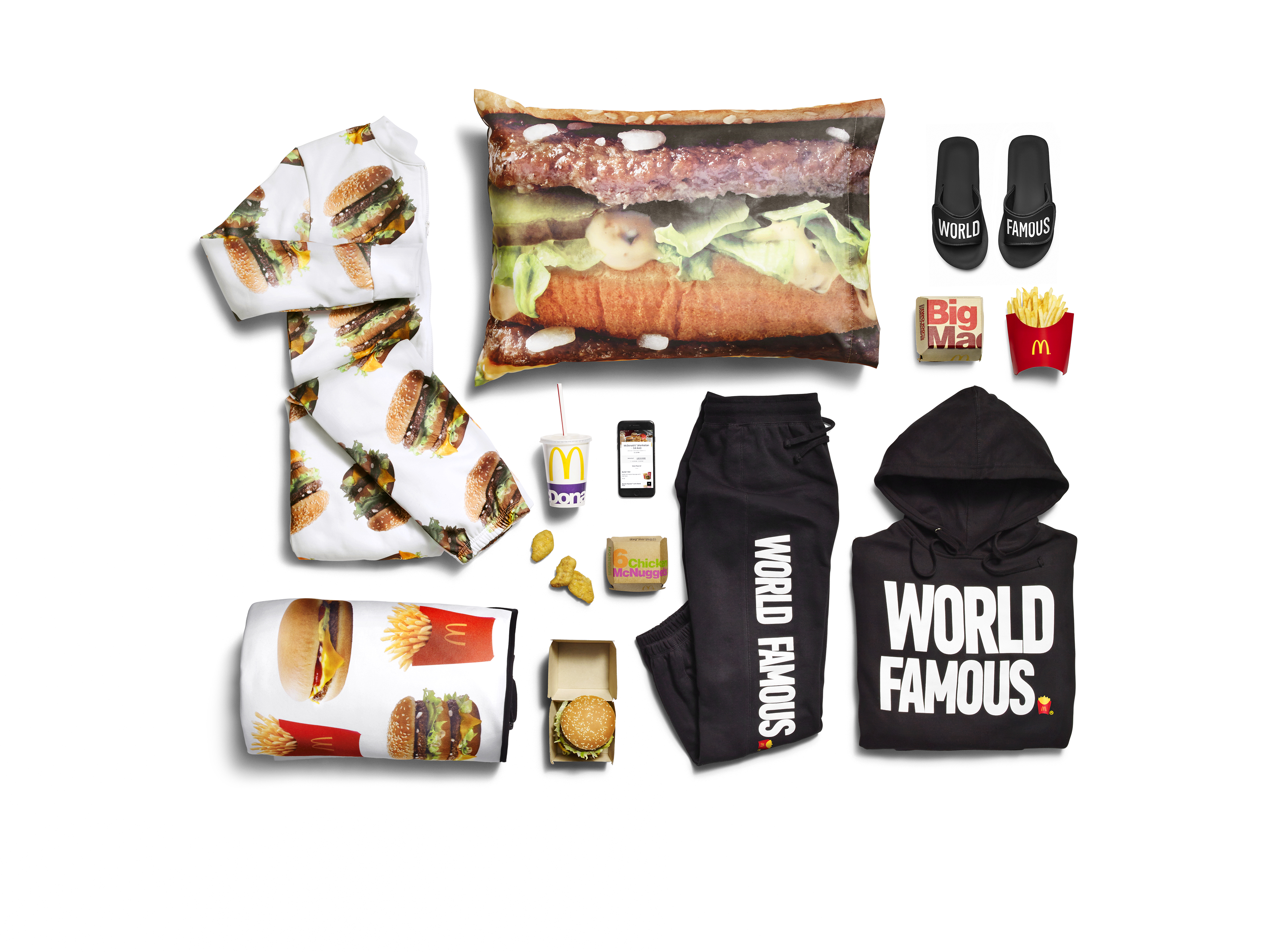 McDonalds has also had a go at apparel with their limited edition collection
