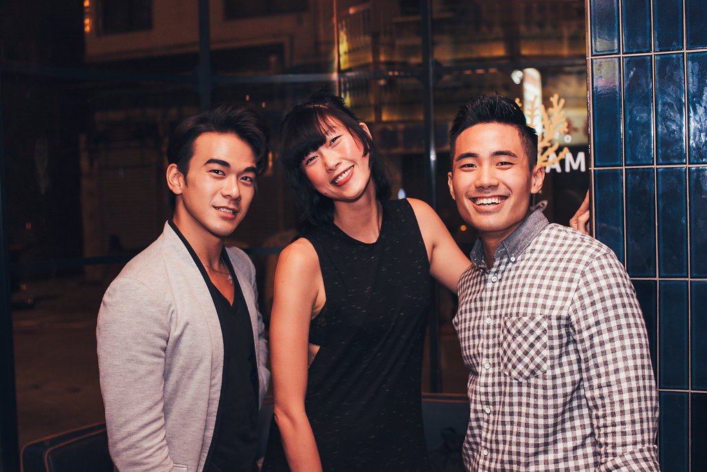 Actor and musician Andrew Pong, model Angie Ng and athlete manager Emil Cheung