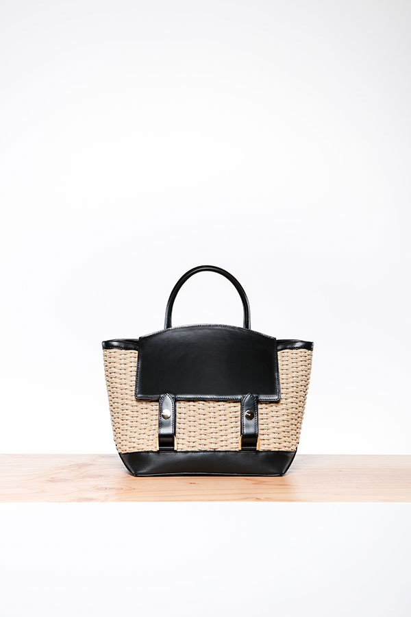 A flip-top tote from the new Sacai line