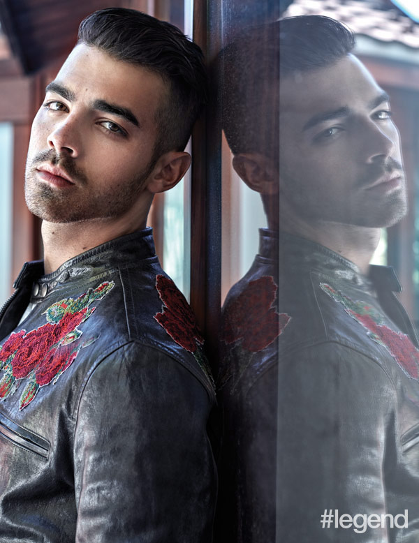 Joe Jonas wears jacket by Dolce & Gabbana