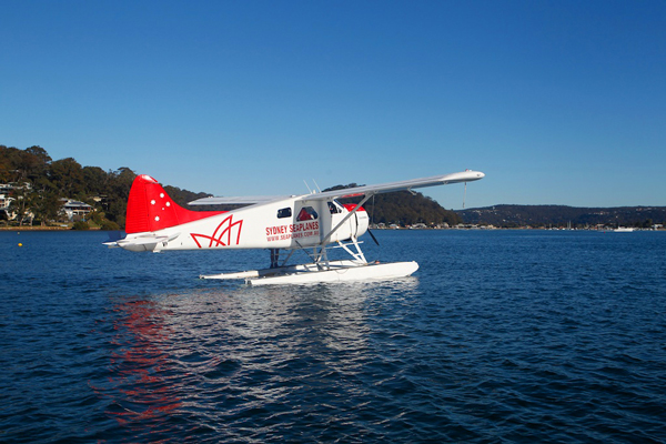 The seaplane is your chariot from Sydney