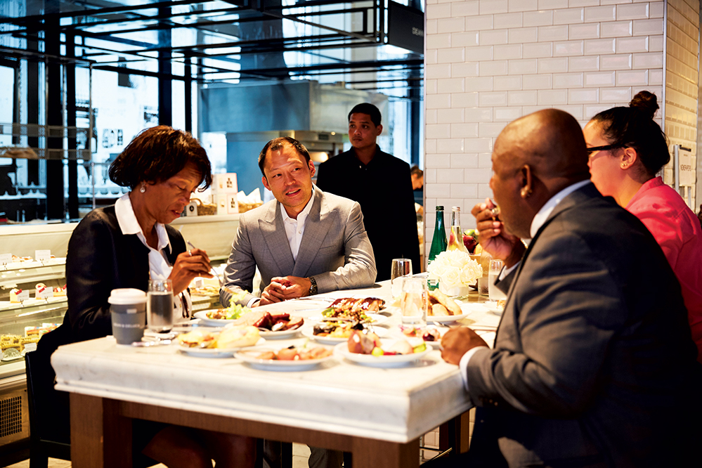 Pharrell's family grabs breakfast with Dean & Deluca's Sorapoj Techakraisri