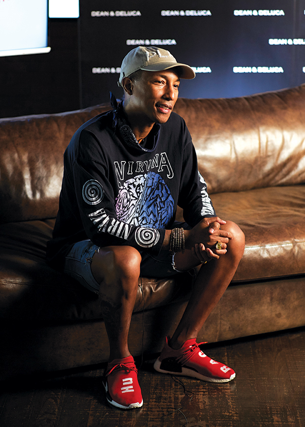 Pharrell is happy to support his dad and the new venture