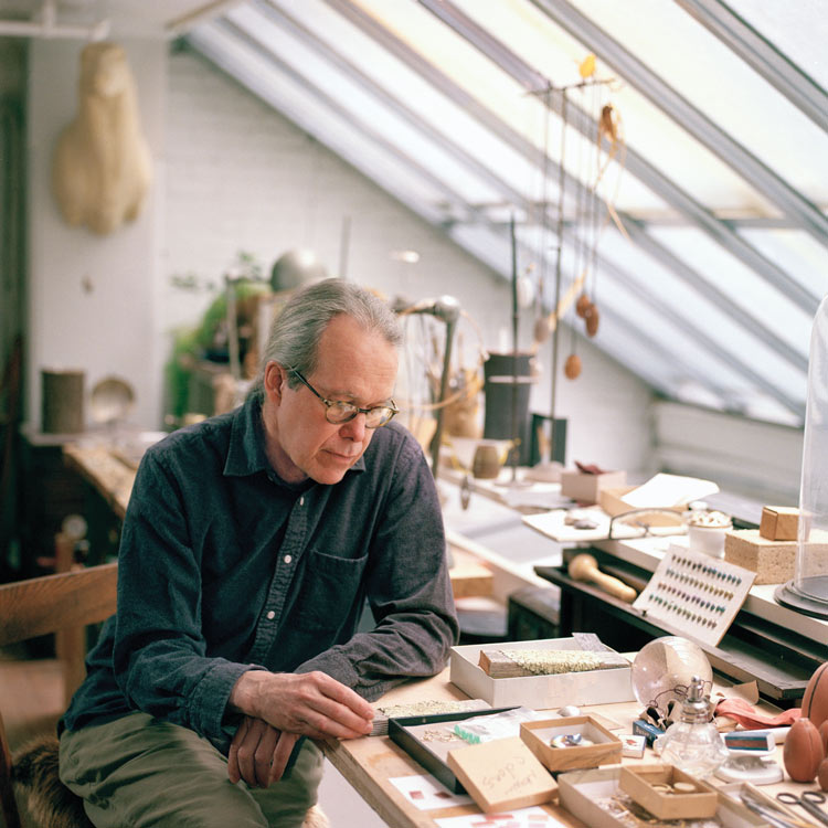 Ted Muehling in his studio. Photo by Nina Subin