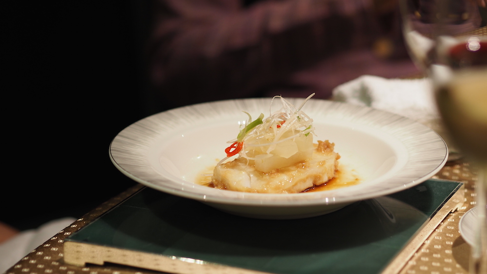Steamed Chilean Sea Bass and Kagoshima Turnip with Miso Sauce
