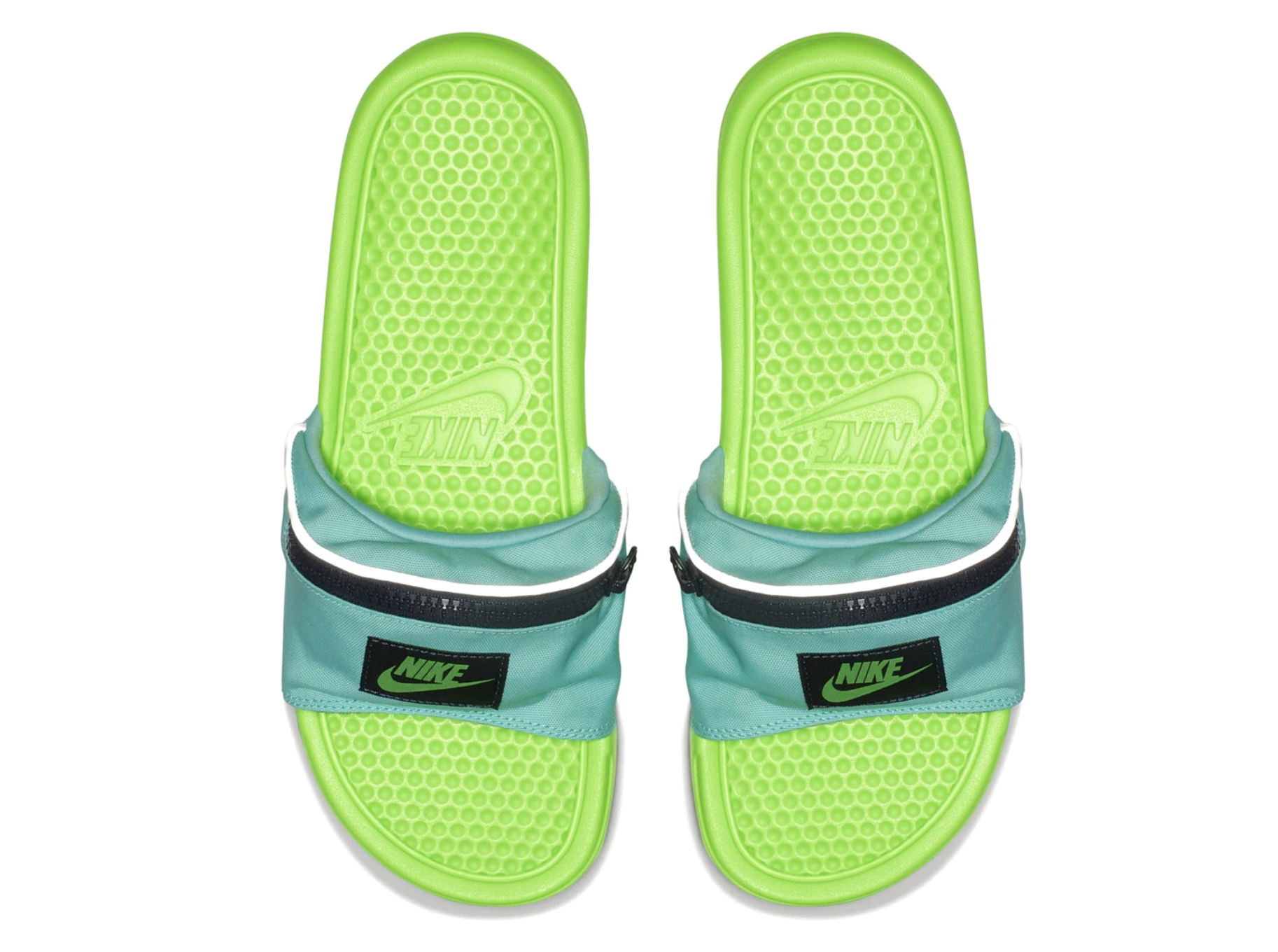 c4b3f8dbb Fanny packs are back – and not in the way you d expect. Prototypes of Nike s  latest slides sprang up overnight