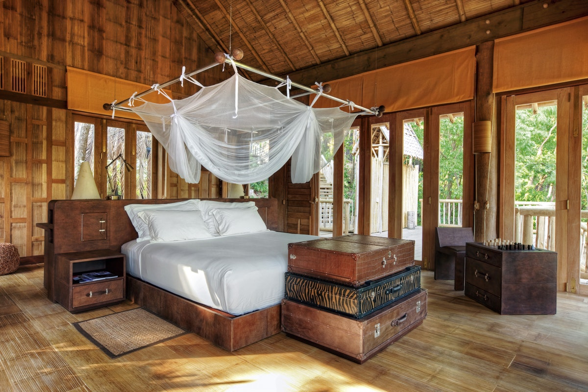 A Robinson Crusoe-inspired bedroom at Soneva Kiri