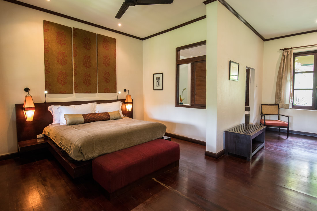 The Apsara Rive Droite's beautiful rooms are an oasis of calm