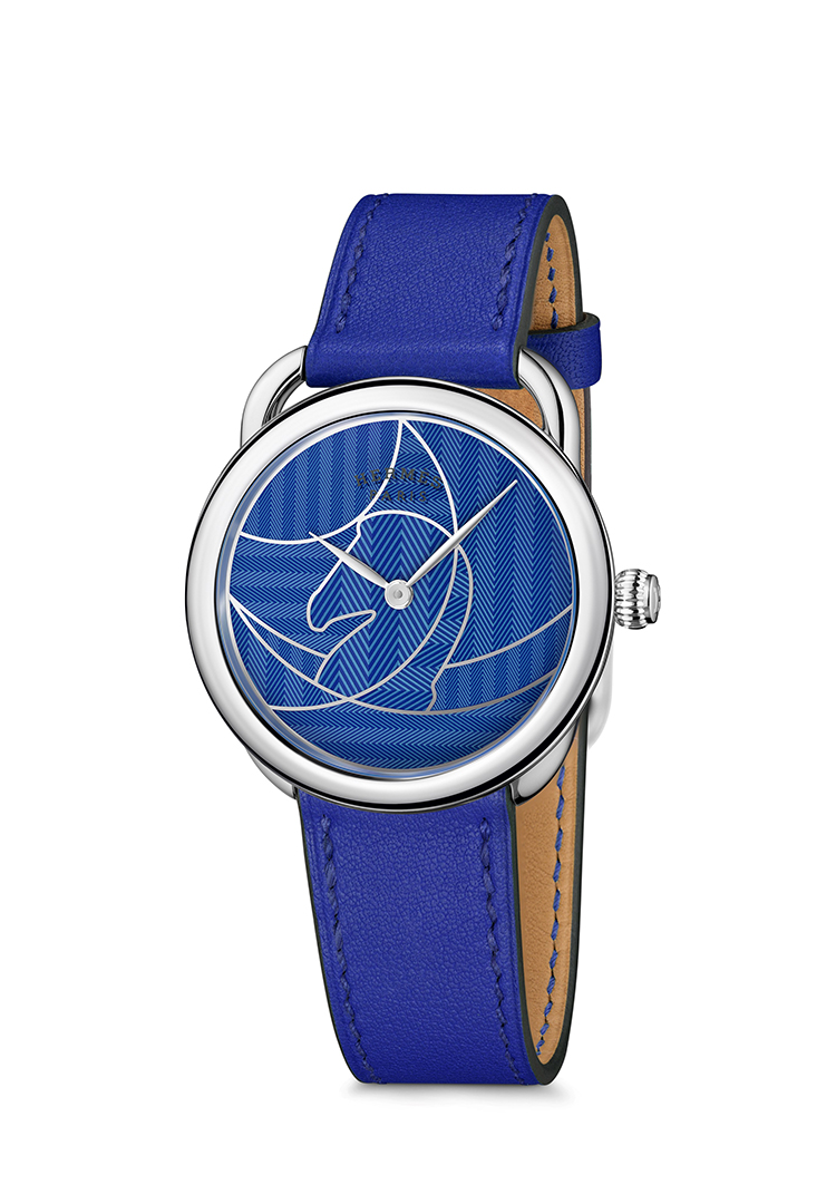 Arceau Casaque watch in blue