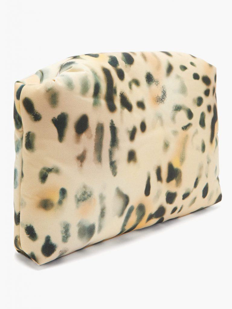 Leopard-print coated-canvas pouch Kassl