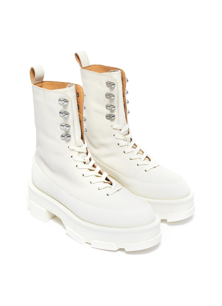 both gao leather combat boot