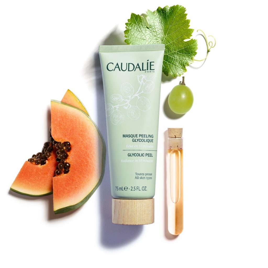 Caudalie Glycolic Peel Mask (with ingredient)-min