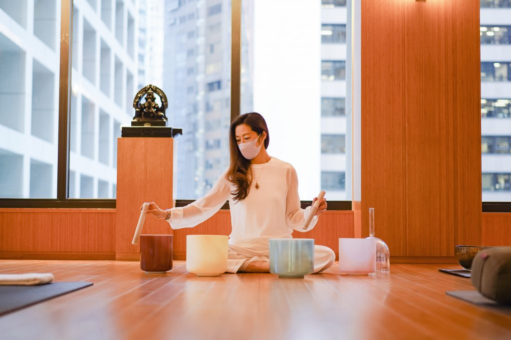 Maria Wong_crystal singing bowl at The Oriental Spa